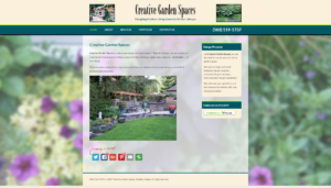 Creative Garden Spaces small business web design.