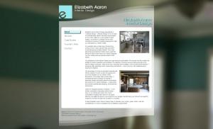 Encinitas Interior Designer, Elizabeth Aaron FireSpike LLC client uses Portland WordPress websites and programming