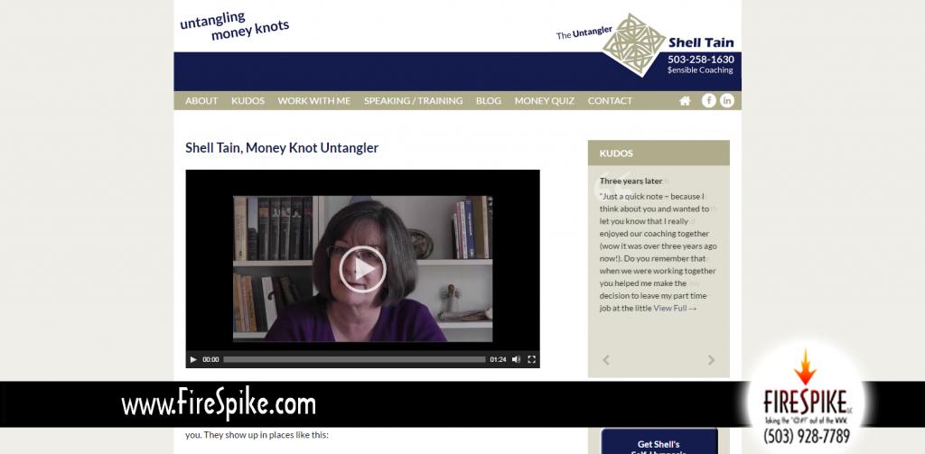 Money Coach Shell Tain's new website by FireSpike LLC